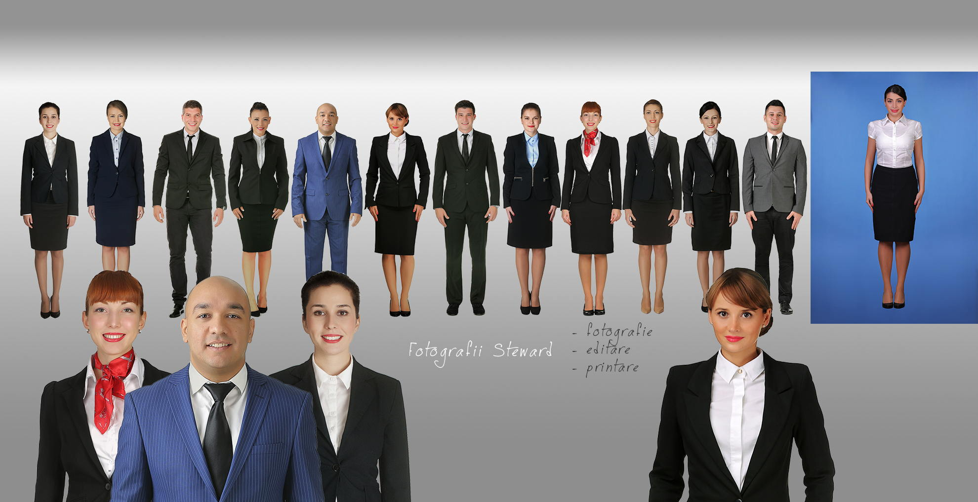 Fotografie insotitor de bord - Flight attendant Photography